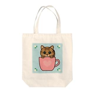 キジトラのすずちゃん・カップ02 Tote bags