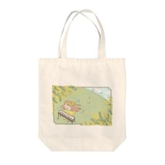 ミモザおしのちゃん Tote bags