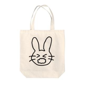 あわあわうさぎ Tote bags
