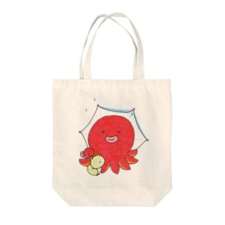 タコとカエル Tote bags