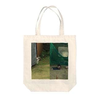 にゃんお Tote bags