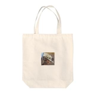 クラシカルなウッドフレームめがね Tote bags