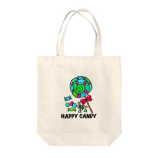 ハッピーキャンデー Tote bags