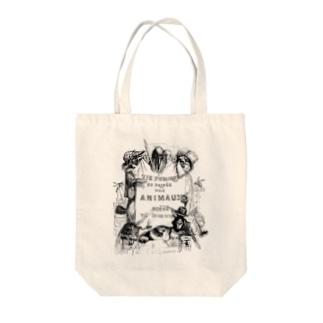 グランヴィル「動物たちの私生活・公生活」扉絵 <アンティーク・プリント> Tote bags