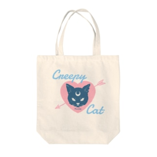 IENITY / MOON SIDEの【MOON SIDE】 Creepy Cat #Pink*Blue Tote bags