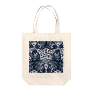 波模様/カラー03 Tote bags