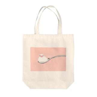 クリームな文鳥 Tote bags