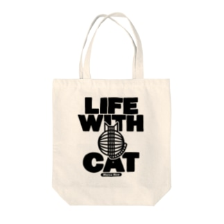 LIFE WITH a CAT トートバッグ Tote bags