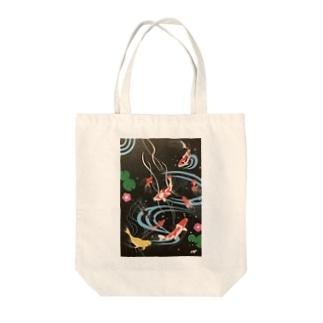 錦鯉 Tote bags