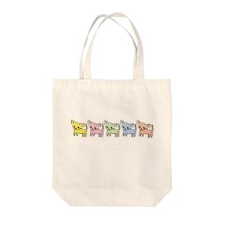 ゆるチワワ(カラフル) Tote bags