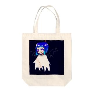 首吊りちゃん Tote bags