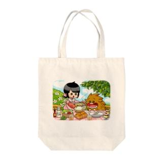 ふゆゆんとぼさいのの食卓 Tote bags