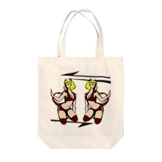 TWIN DEVIL'S Tote bags