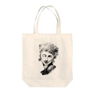 螺髪メディチ Tote bags