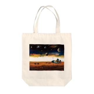 宇宙船地球号・プレーリー平原 Tote bags