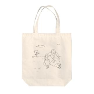 sumo girl Tote bags