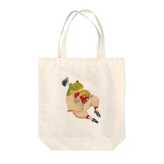 野球日和 助っ人両生類② Tote bags