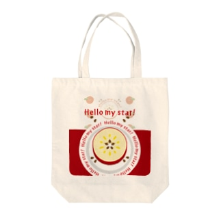 CT105 輪切りのリンゴ*bg Tote bags