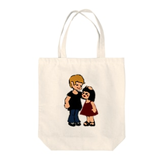A boy and a girl Tote bags