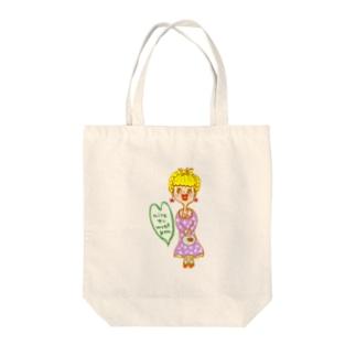 初めまして☆プティさんです。 Tote bags