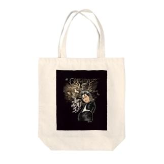 和彫りのゆう3 Tote bags