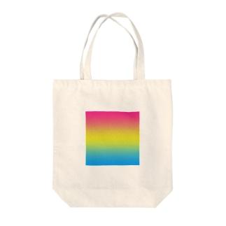 グラデーション プライドフラッグ パンセクシュアル Tote bags