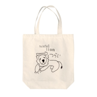 painful lion Tote bags