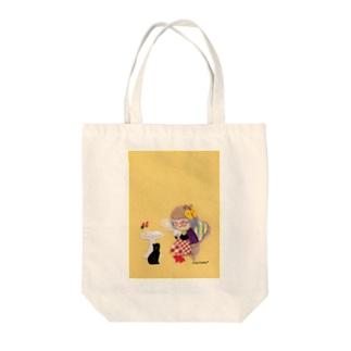チャーミングなおばあちゃん Tote bags