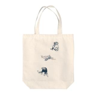 凹ミーズ Tote bags