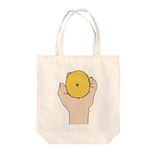 手のうちのぽたお Tote bags