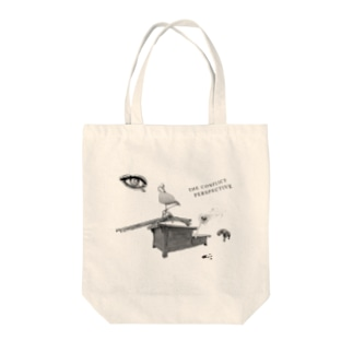 Binary Tension Tote bags