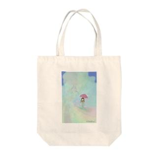 虹のジェットコースター Tote bags