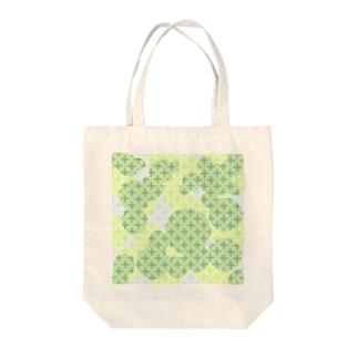 木漏れ日の七宝柄(クリア) Tote bags