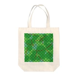 木漏れ日の七宝柄(緑) Tote bags