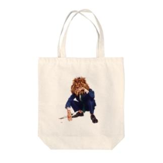 Mr.ライオンヘッド Tote bags