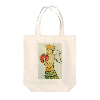 天使のイラスト Tote bags