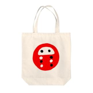 アカ Tote bags