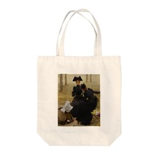 世界の絵画アートグッズのヴィットリオ・マッテオ・コルコス 《リュクサンブール公園での会話》 Tote bags