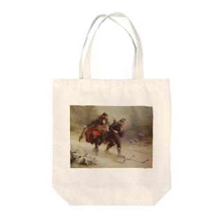 Knud Bergslien《Skiing Birchlegs 王子と山を渡る》 Tote Bag