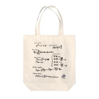 数学・物理数式バッグ(手書き) トートバッグ