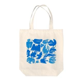 鳥モチーフのデザイントートバッグ Tote bags