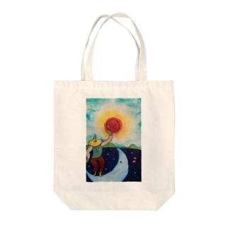 太陽と月 Tote bags
