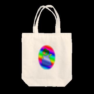 樹クリエイションの虹雛のパルパリーノ Tote bags