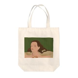 退屈しのぎ Tote bags