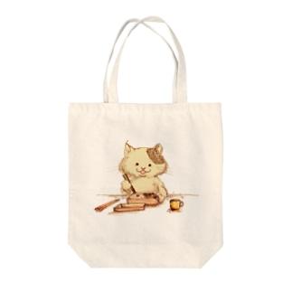 絵描きのさなえのお弁当 Tote bags