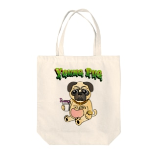 YOUNG PUG Tote bags