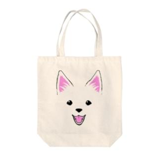 もふがくれ日本スピッツ Tote bags