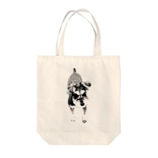 モノクロシュナ Tote bags