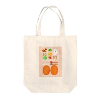 お弁当製作キット Tote bags
