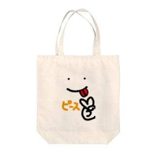 ピースサイン Tote bags